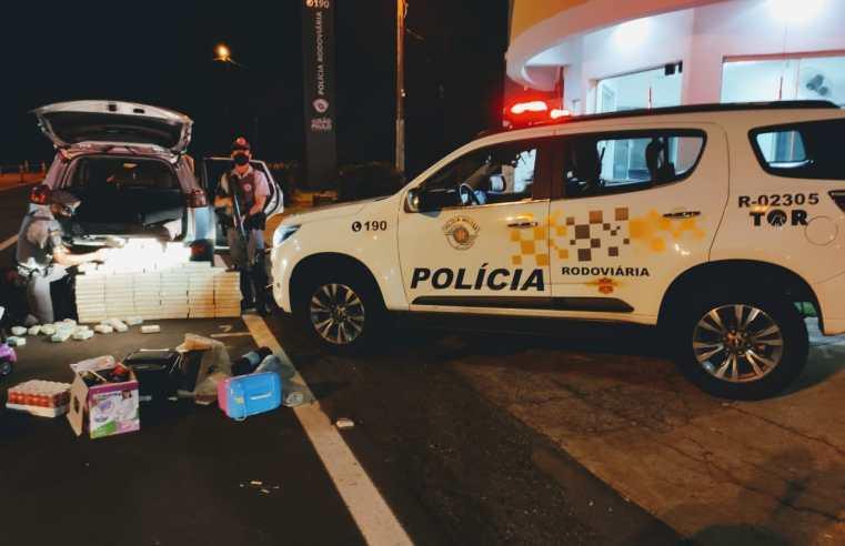 Equipe do TOR localiza 110 tabletes de COCAÍNA PURA em fundo falso de veículo na base de Florínea