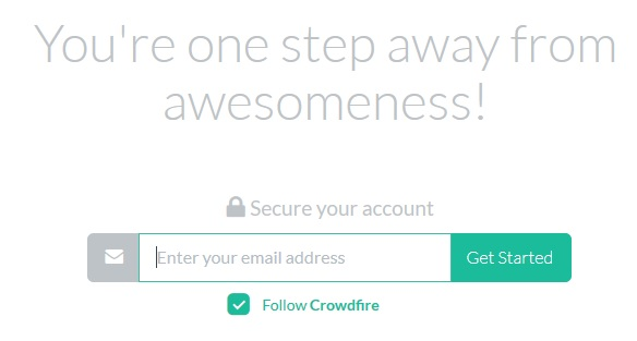 Crowdwire - E-Maileingabe