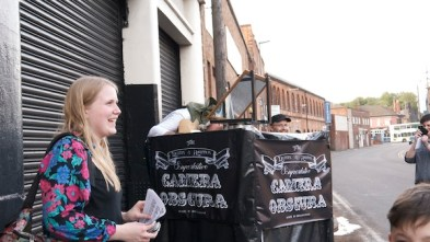 Duffin & Ashton Camera Obscura outside Eastside Projects, 6 June 2014