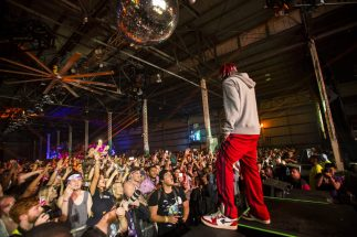 Lil Yachty got the crowd hyped in the Float Den during the BUKU Music and Arts Festival on March 10, 2017.