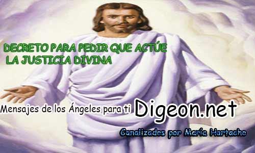 DECRETO PARA PEDIR QUE ACTÚE LA JUSTICIA DIVINA