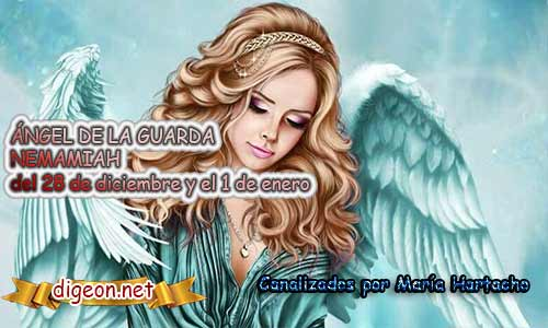 ÁNGEL DE LA GUARDA NEMAMIAH . Todo sobre el ángel guardian Nemamiah, lo que otorga, el salmo para invocarlo y el mensaje del ángel. Regente Del 1 al 5 de Enero.
