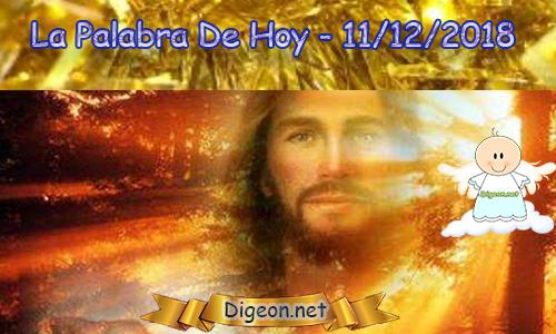 LA PALABRA DIARIA 11/12/2018 - Reflexión de EL EVANGELIO DE HOY 11/12/2018:Pon tu camino en las manos del Señor. (Salmo 37:5)