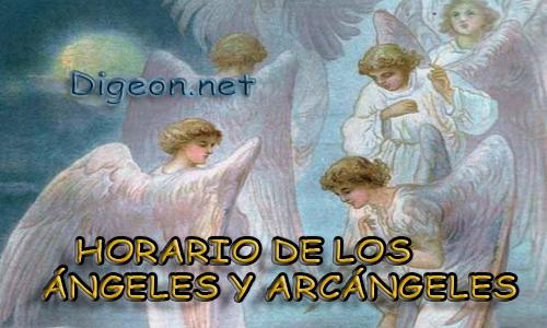 HORARIO DE LOS ÁNGELES Y ARCÁNGELES, el planeta que rige en cada hora, la nota musical y color que rige cada hora de los ángeles. El horario angelical