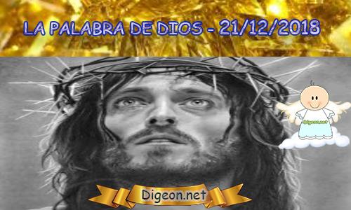 LA PALABRA DE DIOS 21/12/2018 - Evangelio de hoy 21/12/2018 - Den, y se les dará una medida buena, incluso apretada, remecida y desbordante. Lucas 6:38