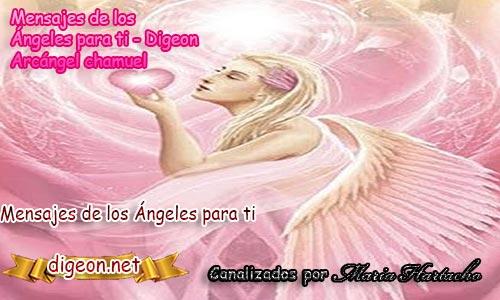 MENSAJES DE LOS ÁNGELES PARA TI - Digeon -01 de Junio - Arcángel Chamuel - Día 1510