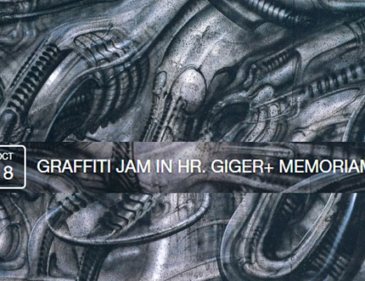 Graffiti jam in H.R. Giger ✙ Memoriam digerible
