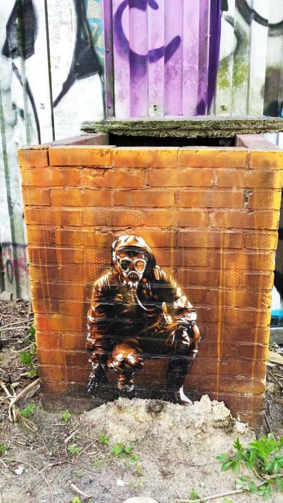 Arte urbano, KEN Plotbot, Berlín, Digerible