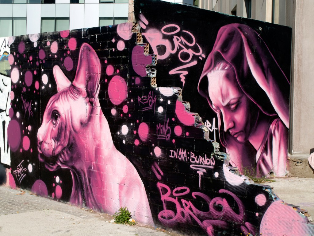 Arte urbano Barcelona, digerible, Burnon