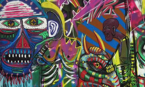 Arte urbano barcelona, digerible, Sebastien Waknine, Edison Blas