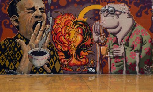 Rubicon1, Simón Vázquez & Nobau, arte urbano Barcelona