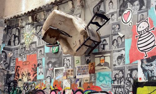 Arte urbano en Barcelona, galería Magda