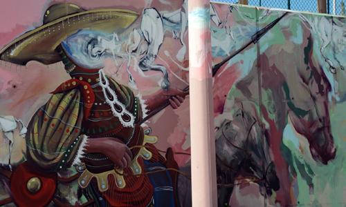 Arte urbano en el club de polo Barcelona