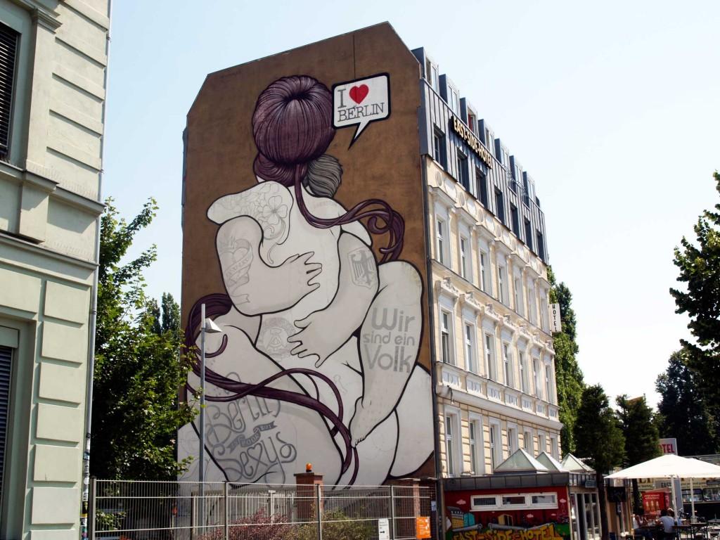 Boamistura en Berlin, Arte urbano, digerible