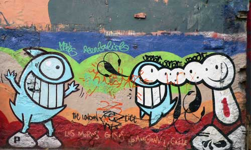 Pez & The London Police, arte urbano