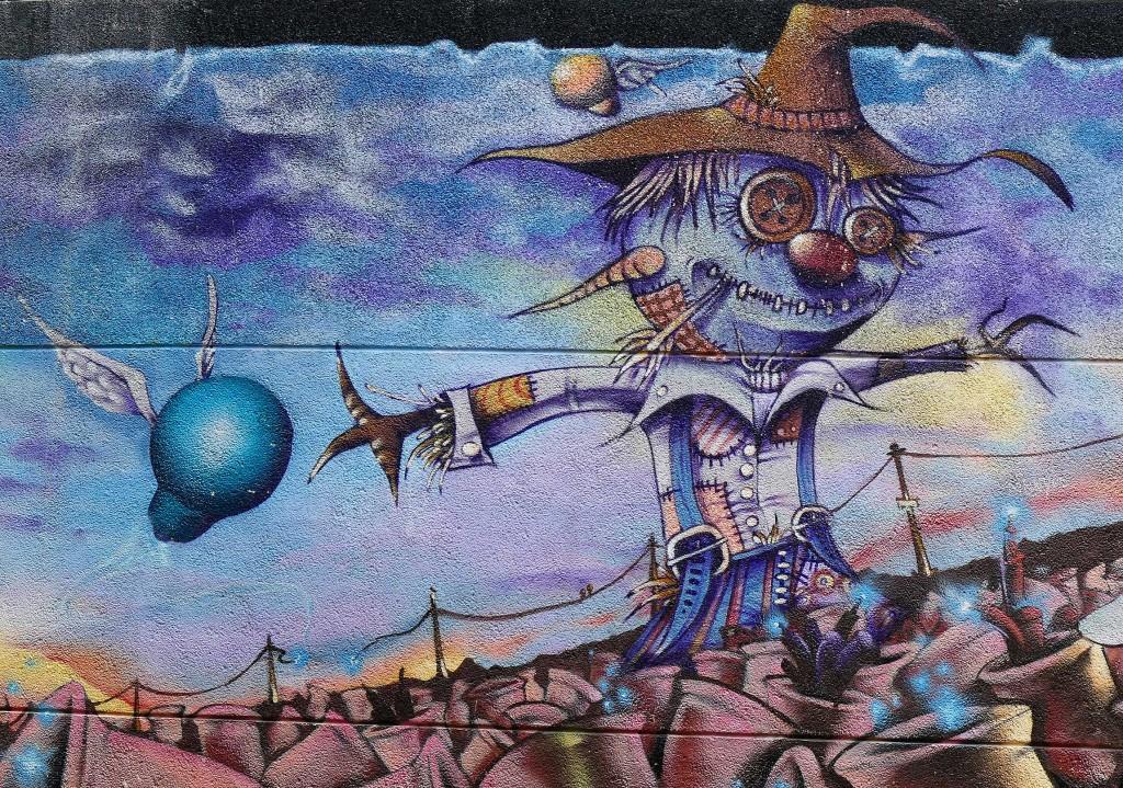 Norte y Sark arte urbano en Girona España