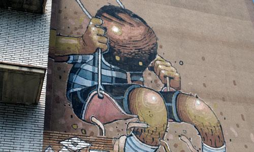 Aryz, arte urbano Barcelona
