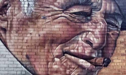 Sabotaje al Montaje arte urbano en Gar-Gar