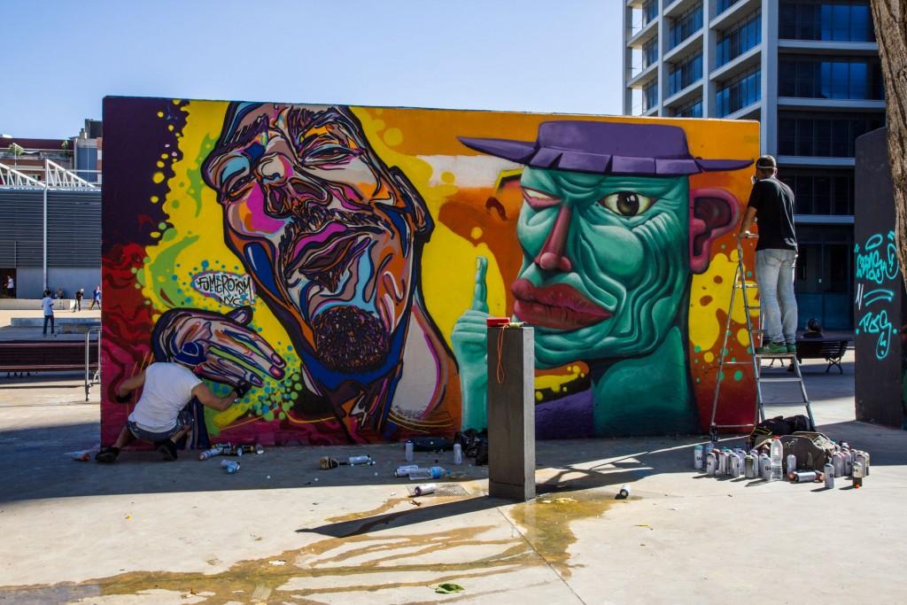 Fumero Ism y Sebastien Waknine arte urbano en Barcelona