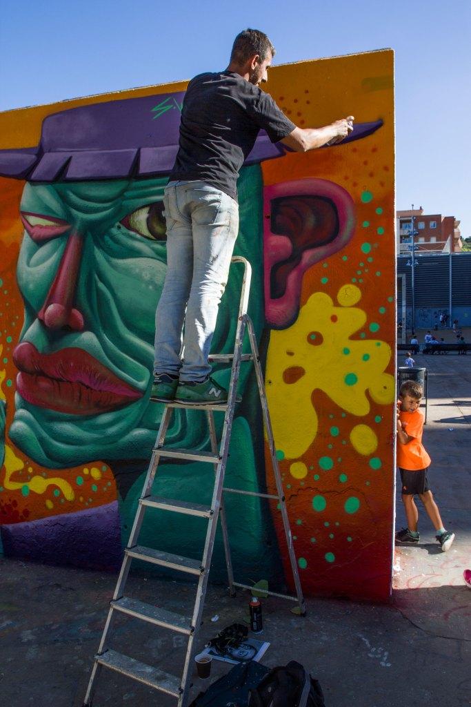Fumeroism y Sebastien Waknine arte urbano en Barcelona