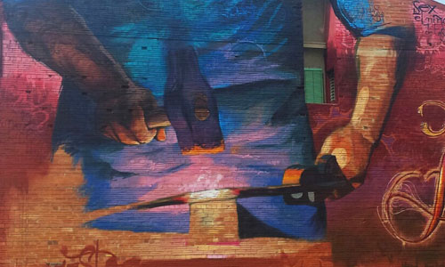 El Niño de las Pinturas arte urbano España