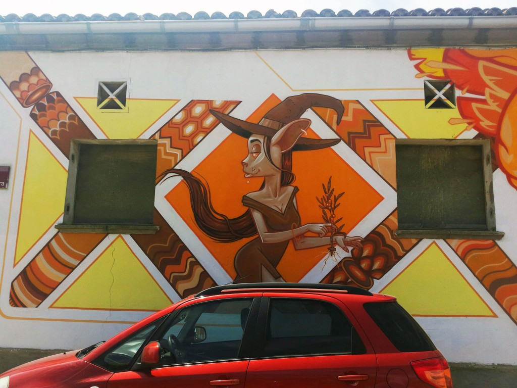 Kram y Eledu Arte urbano GAR-GAR festival en el Penelles