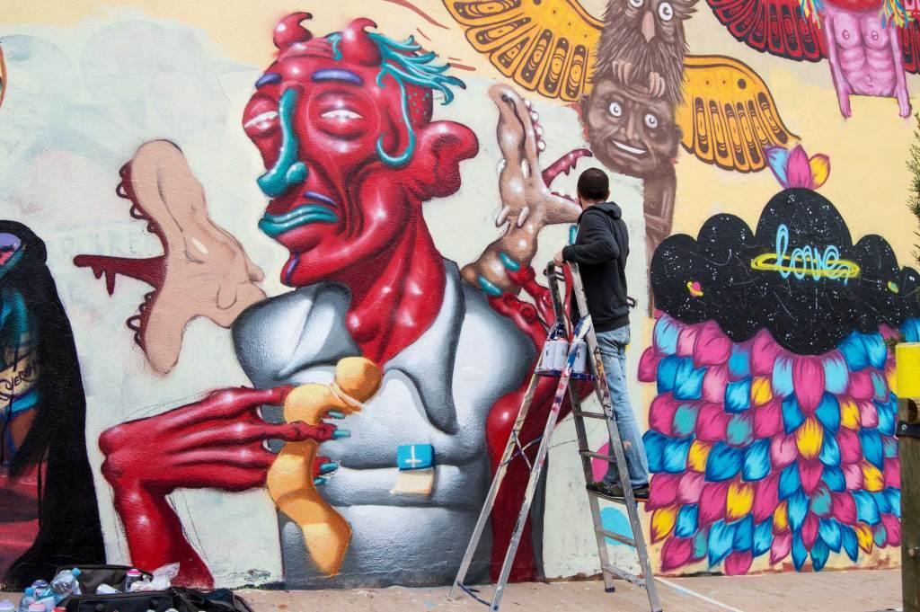 Día Internacional de la Pintura arte urbano