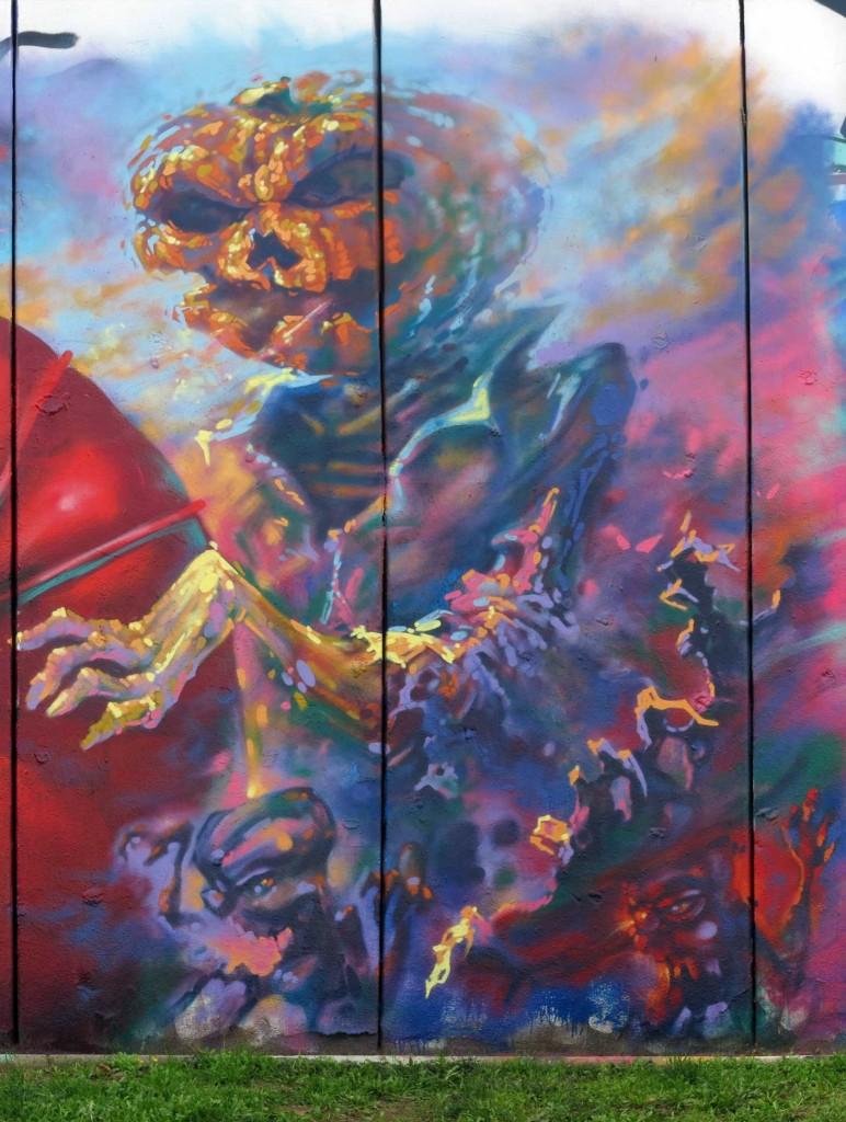 Sebastien Waknine, Simón Vázquez y Reb arte urbano Barcelona