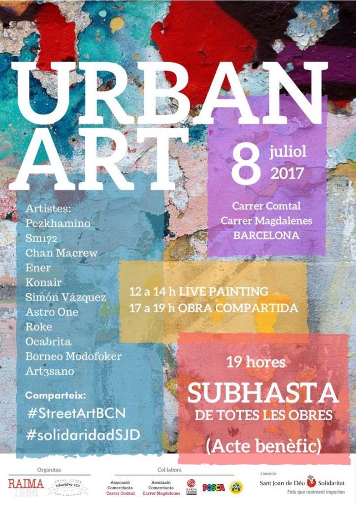 Arte urbano Benéfico, Barcelona