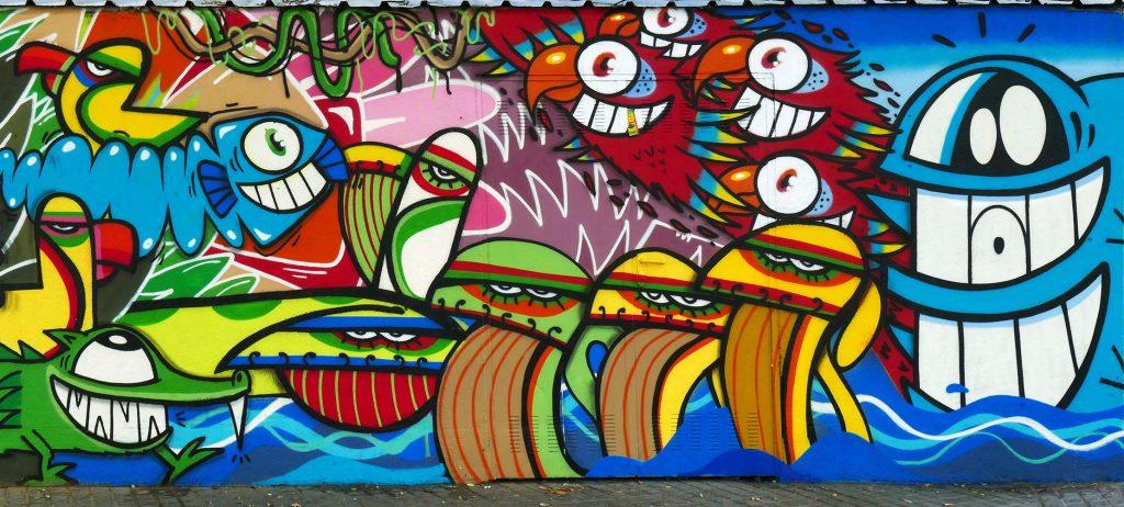 PezBarcelona & J. Loca arte urbano en Barcelona