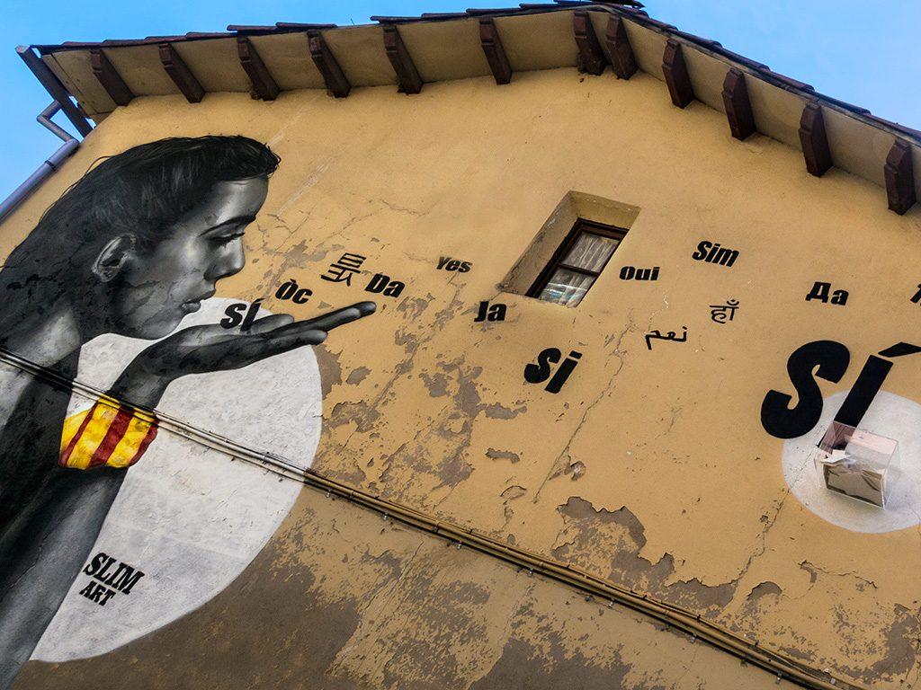Arte urbano de Slim en Berga