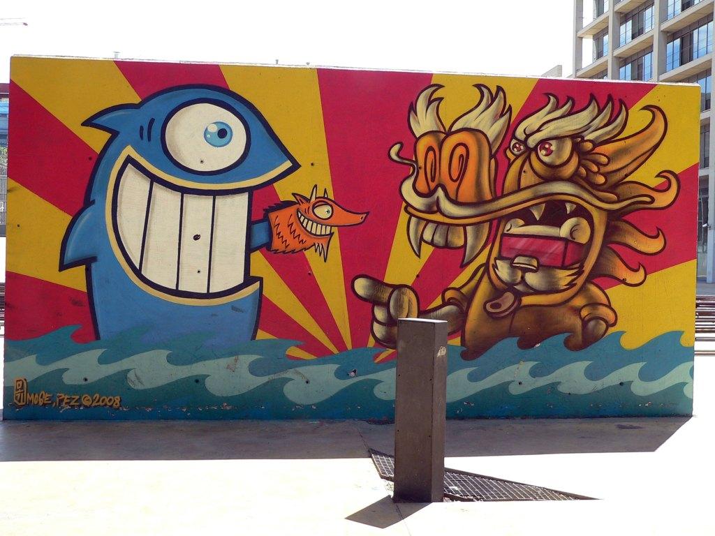 Arte urbano Pez & Moge, Barcelona