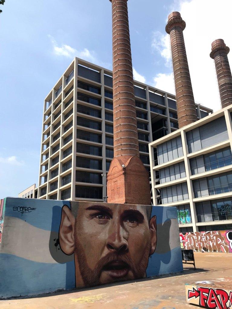 Arte urbano, Cobre, Barcelona, Messi