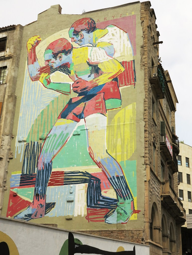 Arte urbano Aryz Manresa