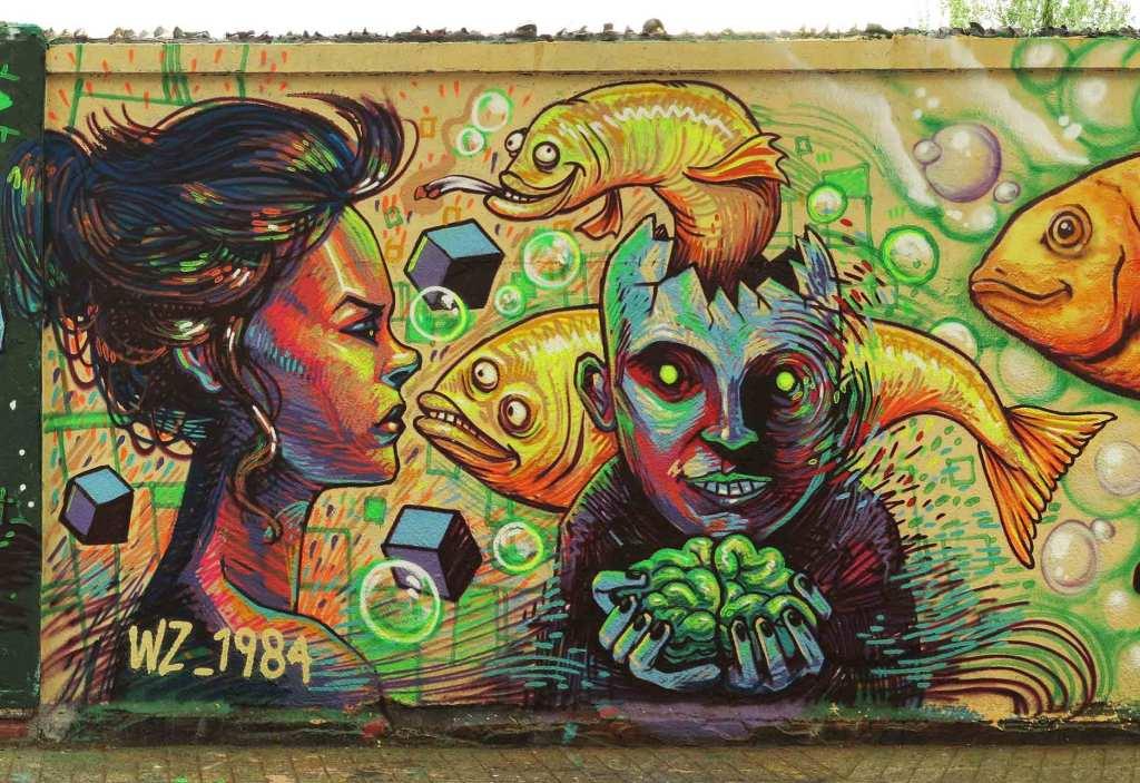 Arte urbano Derz-VZ_1984, Barcelona