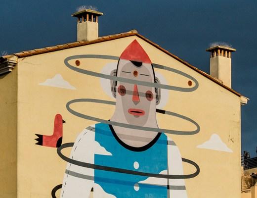 arte urbano en Girona Agostino Iacurci
