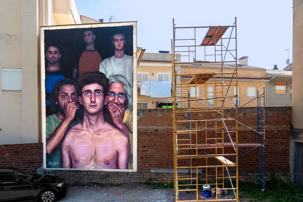 arte urbano Slim avia, Cataluña