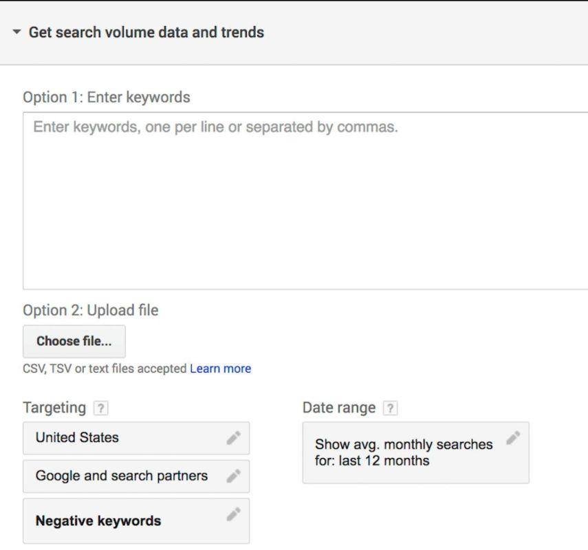 tendencias y volúmenes de búsquedas