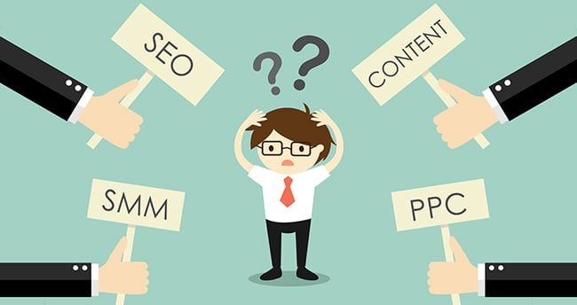 SEO, PPC, Content Marketing o SMM