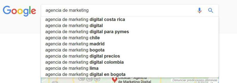lista de resultados google