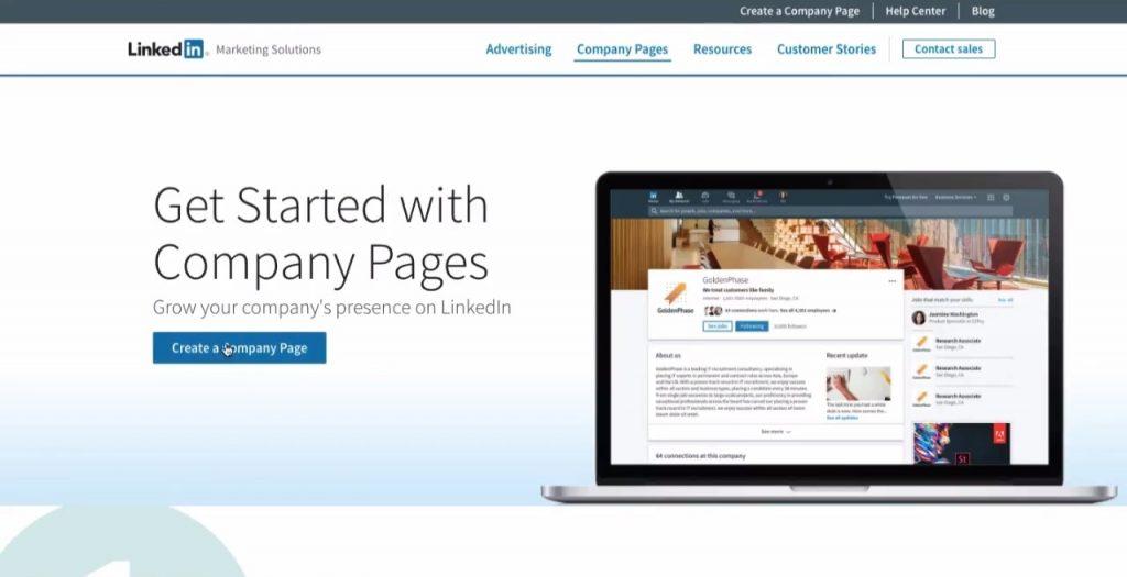 LinkedIn marketing strategy company page