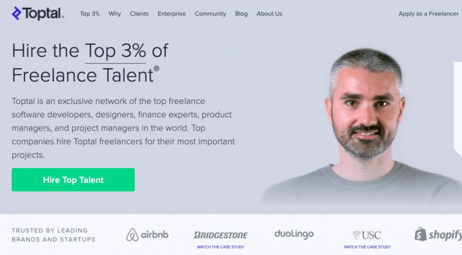 best freelance platforms - Toptal
