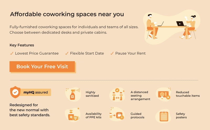 myHQ- Affordable coworking spaces