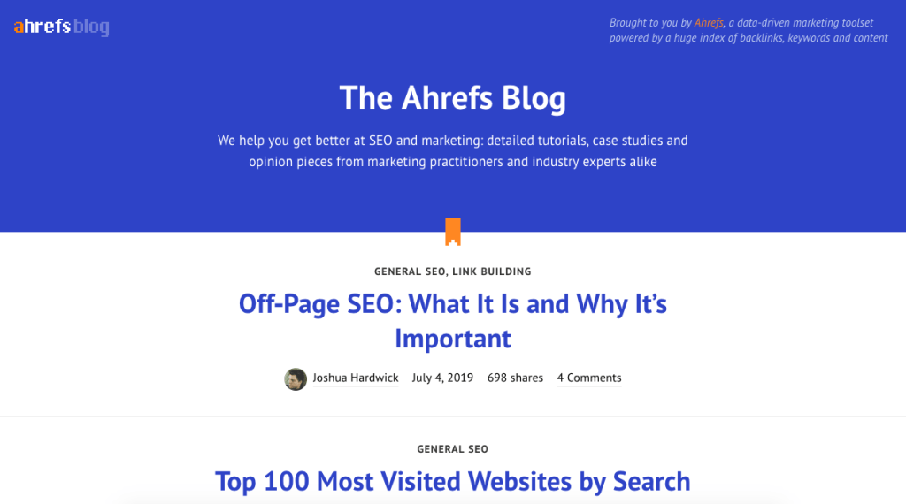 content marketing blog - Afrefs