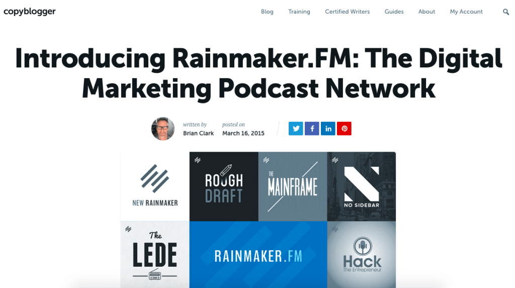 digital marketing podcast - Copyblogger