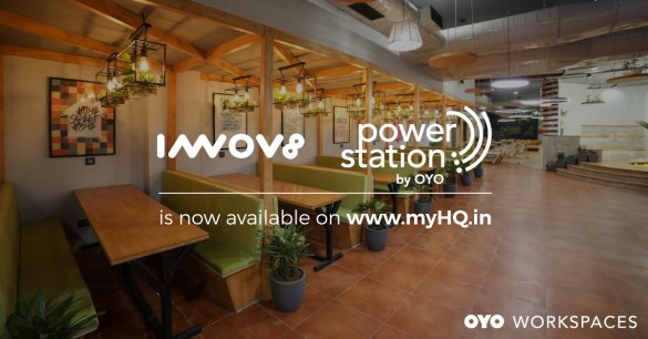OYO Workspaces Innov8 live on myHQ