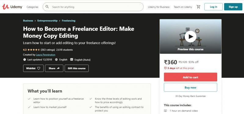 How to Become a Freelance Editor - best copy editing freelance course