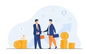 Entrepreneurs closing deal
