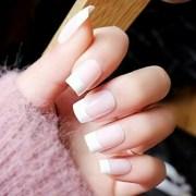 amazing french tip acrylic nail