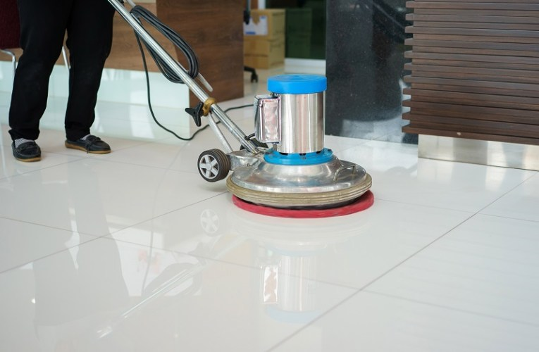How Many Ways To Handle Your Grout ? Cleaning floor with machine